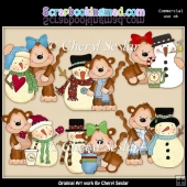 Mikey And Mona Let It Snow ClipArt Collection