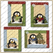 4 Silly Little Penguin Greeting Cards PDF Download
