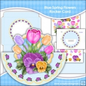 Blue Spring Flowers Rocker Card Download