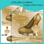 Girly Shoe Birthday Cardfront
