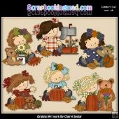 Madison and Molly Love Fall ClipArt Graphic Collection
