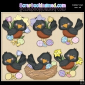 Little Robins Easter ClipArt Graphic Collection