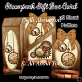 Steampunk Gift Box Card