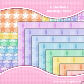 Collection 1 - 16 backing paper Download