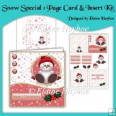 Snow Special One Page Card & Insert Kit