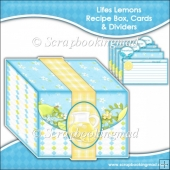 Lifes Lemons Recipe Box, Cards & Dividers
