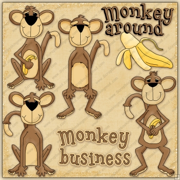 Monkey Around ClipArt Graphic Collection