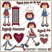 Raggedy Anns 1 ClipArt Graphic Collection