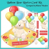 Balloon Bear Rocker Card Kit