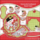 Snowcute Scalloped Easel Card Download
