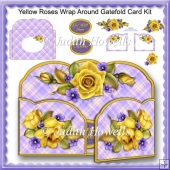 Yellow Roses Wrap Around Gatefold Card Kit