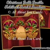 Christmas Bells Oval Double Foldback Card