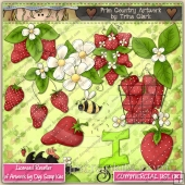 Strawberry Patch ClipArt Graphic Collection