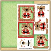 Beary Christmas PDF Decoupage Download