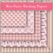 5 Moo Daisy Backing Papers Download (C127)