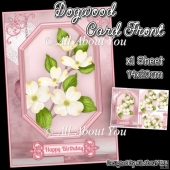 Dogwood Card Front with Pyramage Layers
