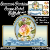 Summer Pansies Card Topper