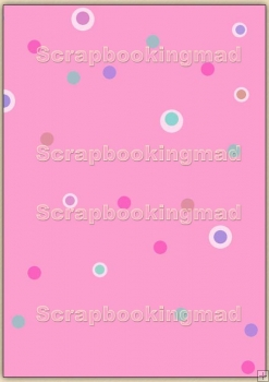 A4 Backing Papers Single - Pink Dots - REF_BP_142