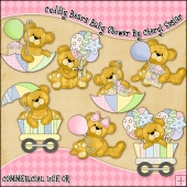 Cuddly Bears Baby Shower ClipArt Graphic Collection