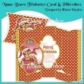 Xmas Bears Tri Shutter Card & Pillowbox