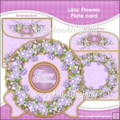 Lilac Flowers Plate Card