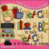 Teacher Bumpkins ClipArt Graphic Collection
