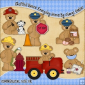Stuffed Bears Everyday Heros ClipArt Graphic Collection