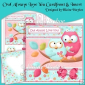 Owl Always Love You Cardfront & Insert