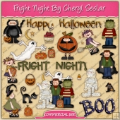 Halloween Fright Night ClipArt Graphic Collection - REF - CS