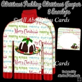 Christmas Pudding Christmas Jumper Card & Envelope