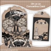 Oh La La Concertina Card & Envelope