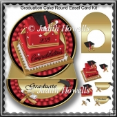 Graduation Cake Round Easel Card Kit