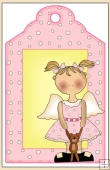 Teddy Angel Gift Tag - REF_T556