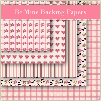 5 Be Mine Backing Papers Download (C82)