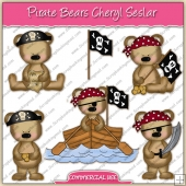 Pirate Bears ClipArt Graphic Collection - REF - CS