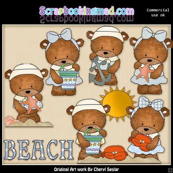 Baxter and Bailey Little Sailors ClipArt Graphic Collection
