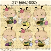 Itty Babes Bees ClipArt Graphic Collection