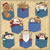 Pocket Pals Winter Holidays ClipArt Graphic Collection