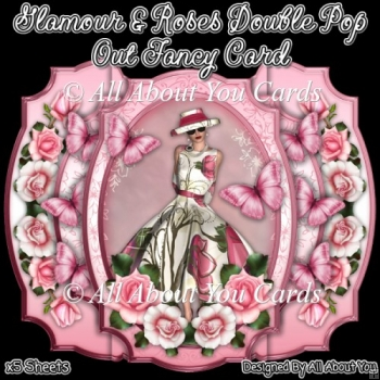 Glamour and Roses Double Pop Out Fancy Card