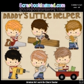 Little Henry Daddys Little Helper ClipArt Collection