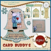 Snow Love Bell Shaped Easel Card Kit