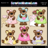 RESALE ART WORK - Tea Time Bears Collection