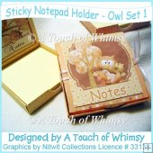 Owl Sticky Notes Holder