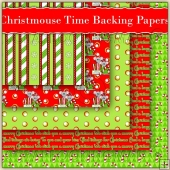 5 Christmouse Time Backing Papers Download (C197)