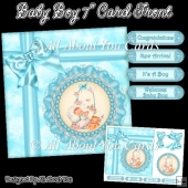 Baby Boy 7 Inch Card Front
