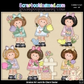 Hillary Rose Easter Wishes ClipArt Collection
