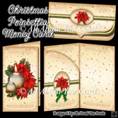 Christmas Poinsettia Money Card