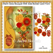 Warm Glow Bouquet With Side Border Card Front