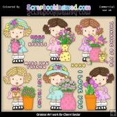Adalees Simply Flowers ClipArt Graphic Collection