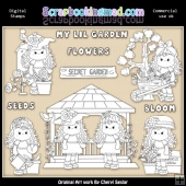 Beautiful Bella Secret Garden Digital Stamp Graphic Collection